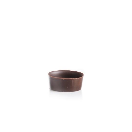 Petit four cup round dark