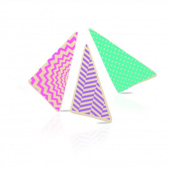 Geometric triangles assortment white