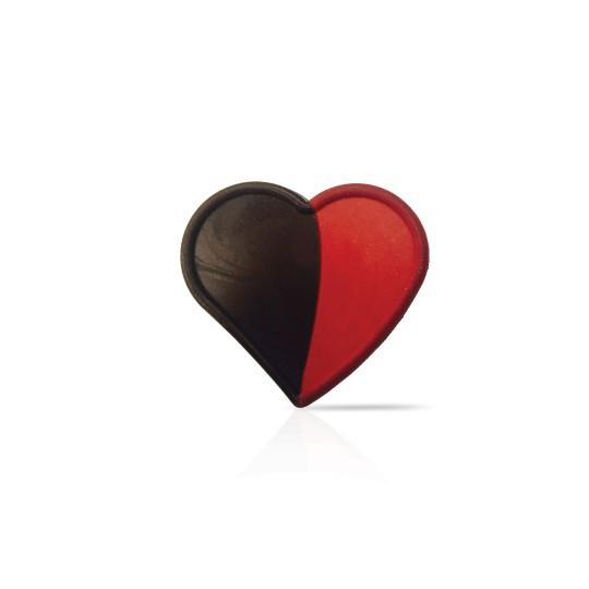 D25 Duo red heart dark