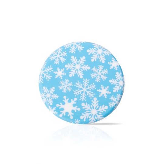 Blue snowflake cookie topper
