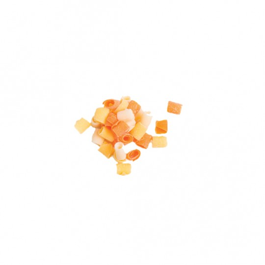 Candy corn curls mix white/yellow/orange 2.27 kg/5 lbs