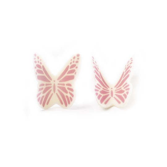 Butterfly white pink