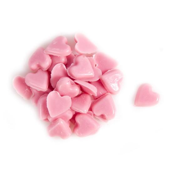 Sprinkle hearts pink